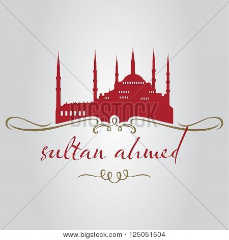 traditional istanbul sultan ahmed mosque silhouette for tourism