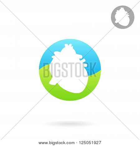 Heart icon silhouette style 2d vector icon of human organ eps 10