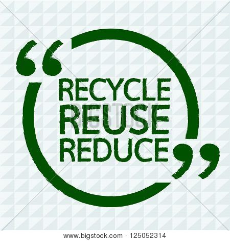 an images of RECYCLE REUSE REDUCE Illustration design