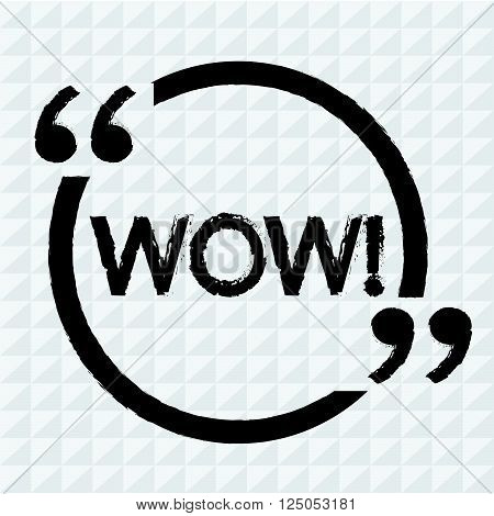 an images of word WOW Illustration design