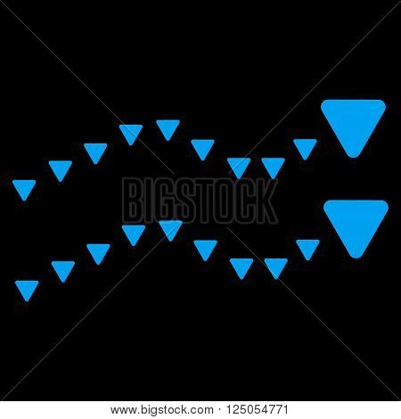 Dotted Trends vector icon. Dotted Trends icon symbol. Flat blue dotted trends icon. Isolated dotted trends icon graphic.