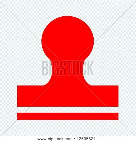an images of Rubber Stamp icon Illustration design
