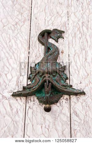 Door knocker fish shaped in Cartagena de Indias