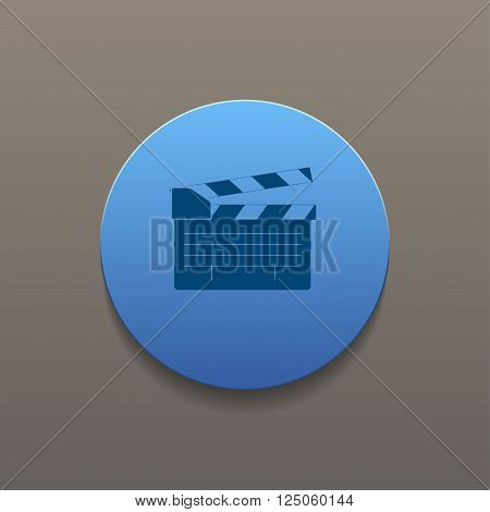 movie clapper board movie maker vector. Flat design style eps 10