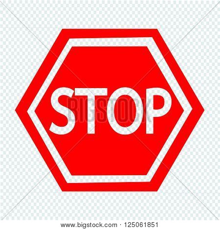 an images of Stop Sign Icon Illustration design