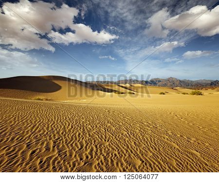 scenery of sand dunes in Death Valley National Park