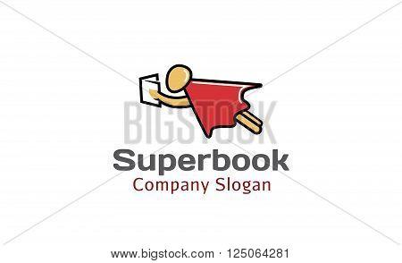 Super Book Creative And Symbolic Logo Design Illustration