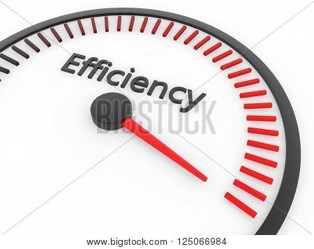 Speed meter maximum efficiency concept 3d rendering