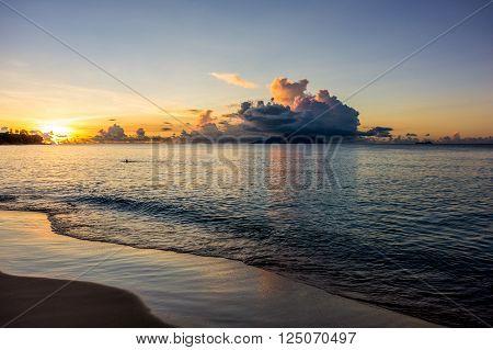 Beau Vallon bay on Mahe Seychelles main island