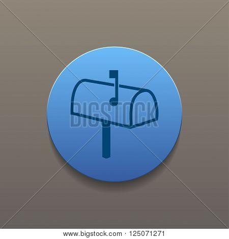 Mailbox Icon. Flat design style eps 10