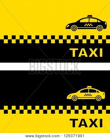 business cards with taxi car and place for text