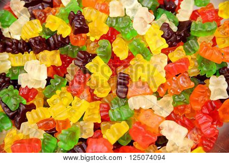 Colorful Gummy Bears Or Jellybears Candies