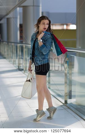 Woman In A Shopping Mall