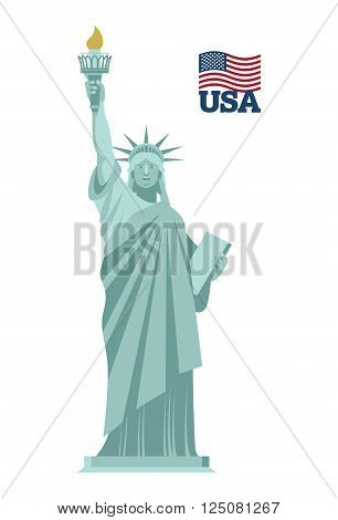 Statue Of Liberty In Usa. National Symbol Of America. State Attraction Of Country. Statue Of Liberty