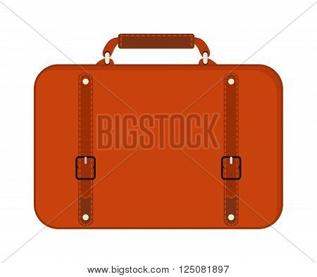 Travel tourism fashion red bag and vacation handle travel red bag. Travel bag leather big packing and voyage big bag destination. Travel red fashion bag on wheels. Journey suitcase travel bag trip baggage vacation vector.