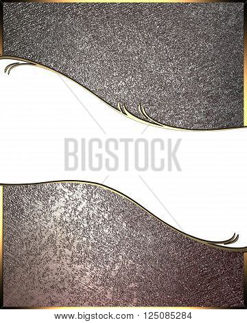 Grunge metal texture with a white plate. Metal Template for design. copy space for ad brochure or announcement invitation, abstract background.