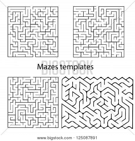 Maze templates for design presentations children books and etc