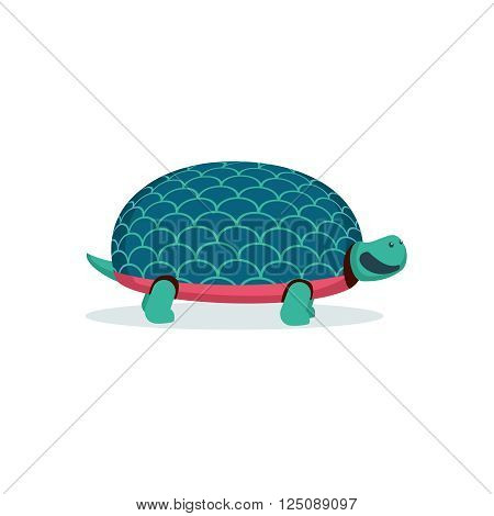 Illustration of a funny turtle. Isolated vector turtle