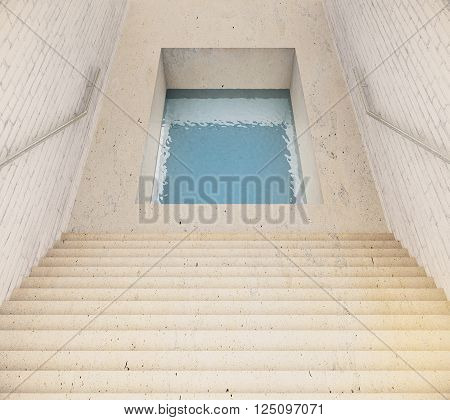 Stairs And Hole With Water