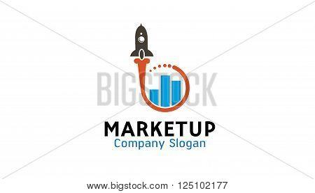 Market Up Creative And Symbolic Logo Design Illustration