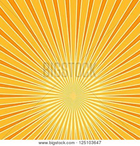 Sun Burst Design Raster Art