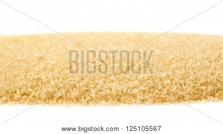 Line of stevia cane sugar isolated over the white background