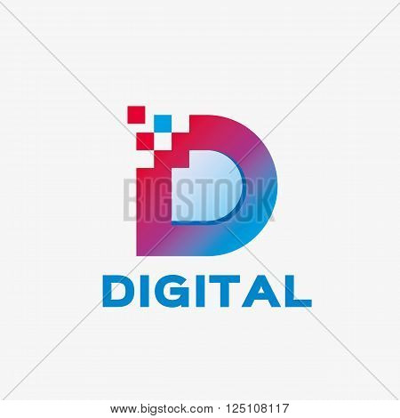 Abstract letter D logo. Abstract business logo design template. Logo template editable for your business.