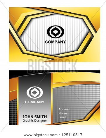 business card template vector design template element