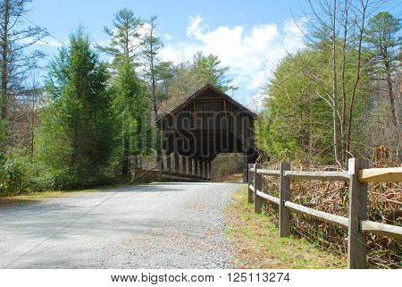 DuPont State Forest Covered Bridge in North Carolina