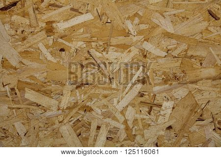 Osb Oriented Strand Particle Board Closeup