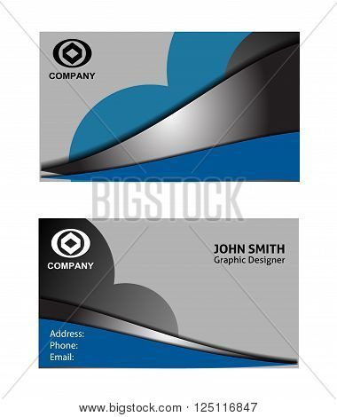 creative business cards  vector template design blue