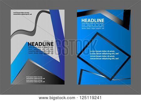 Brochure flyer background vector template design set