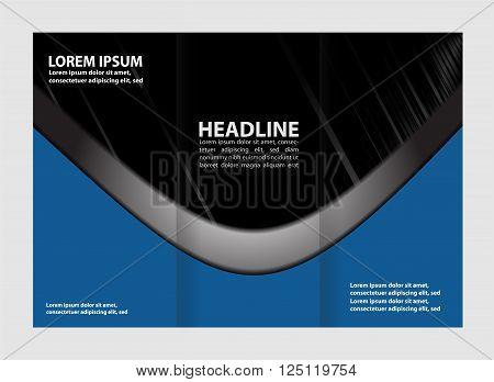 Tri-fold brochure Tri-fold brochure vector template design