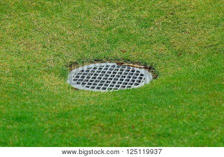 A water Drain on the golf course
