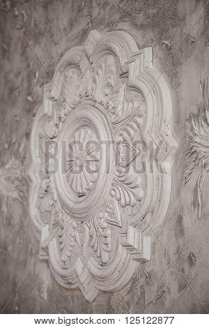 Gypsum Tracery Art Texture With Handmade Details