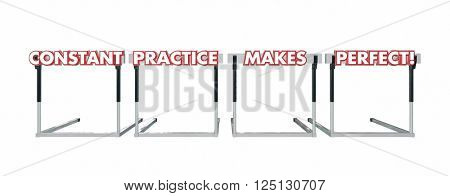 Constant Practice Makes Perfect Jumping Over Hurdles