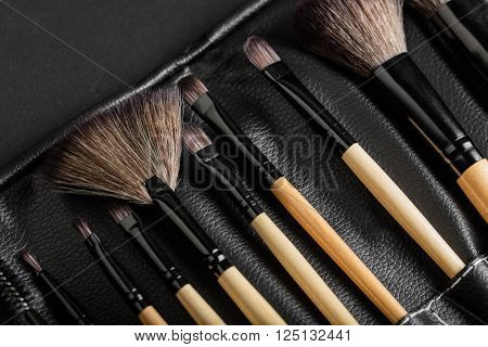 brush set for make-up close-up in packaging