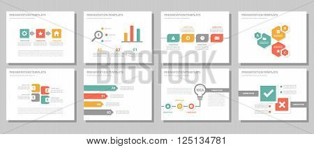 Red orange green presentation templates Infographic elements flat design set,annual report,flyer,brochure templates set