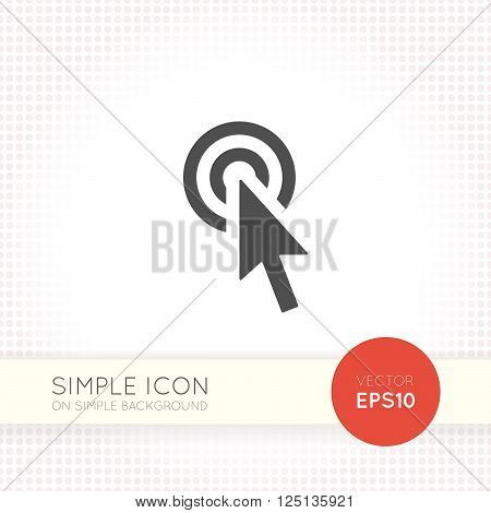 Flat Cursor sign icon. Flat arrow icon eps. illustration element for user interface of website or application. Eps with simple black arrow object isolated on white background.