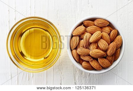 Almond Oil And Almonds