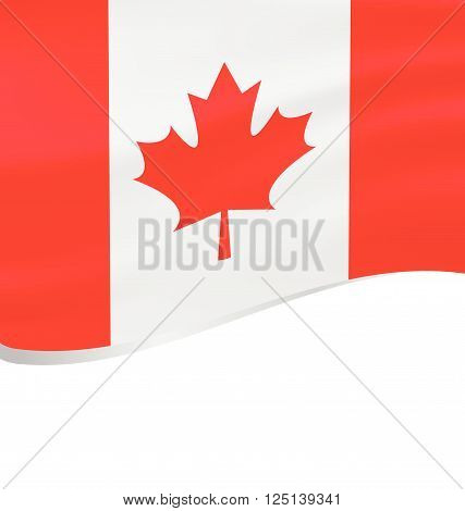 Waving flag of Canada isolated on white background