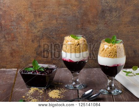 Inverted Cheesecake Dessert In Glass