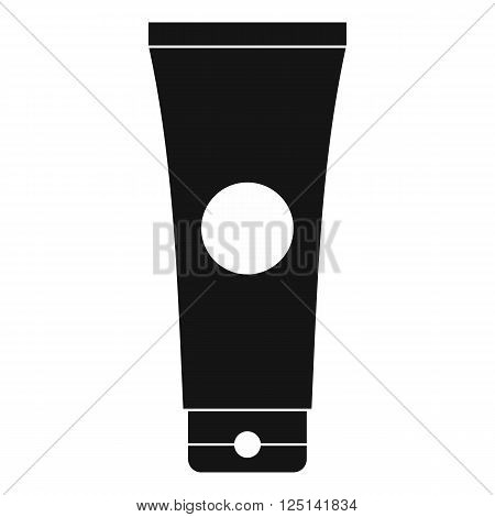 Tube of lubricant gel icon in simple style on a white background