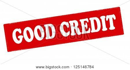 Rubber stamp with text good credit inside vector illustration