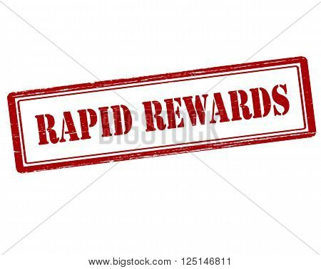 Rubber stamp with text rapid rewards inside vector illustration