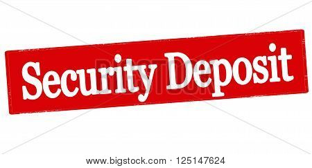 Rubber stamp with text security deposit inside vector illustration