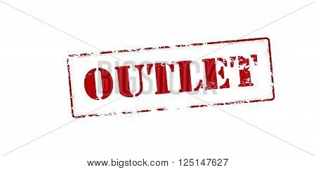 Rubber stamp with word outlet inside vector illustration