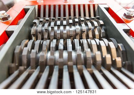 Steel Blades Of A Cutting Machine