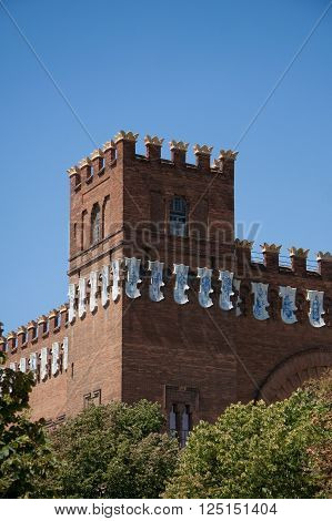 Old castle of three dragons. Spain. Barcelona