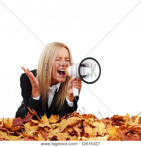 autumn businesswoman